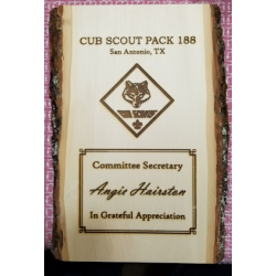 Basswood Plaque