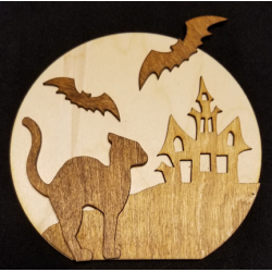 Round Halloween Panel