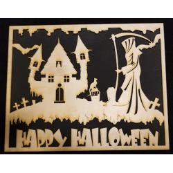 Halloween Scene Panel